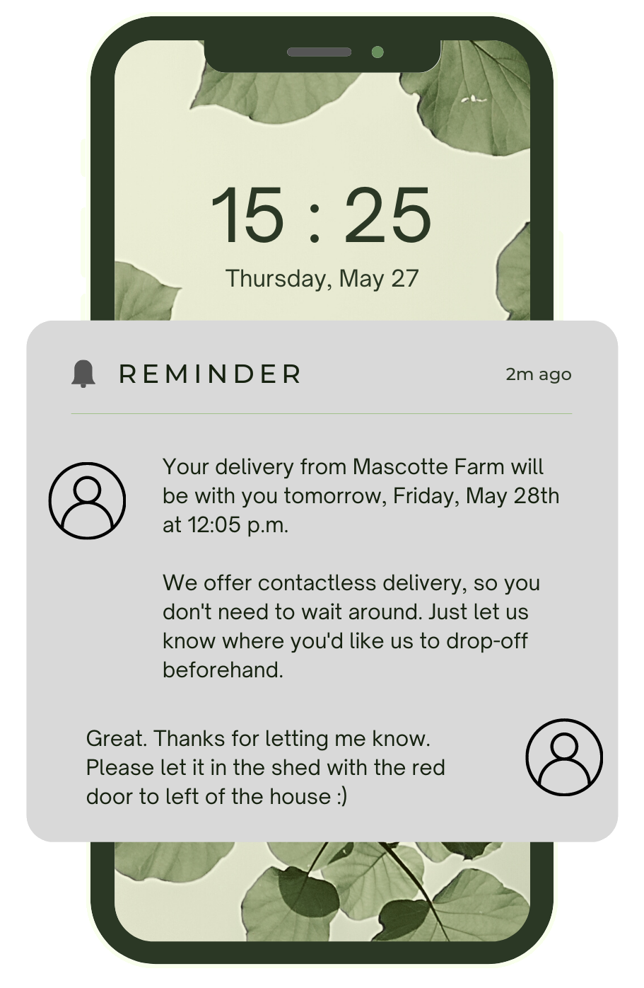 Customer SMS Delivery Notification