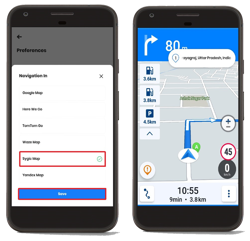 Zeo Route Planner Mobile Interface Mockups