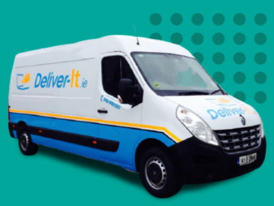 Deliver-It Van on a green background