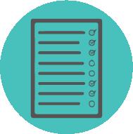 Green Icon of a checklist
