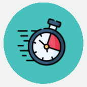 Animation of a stop watch