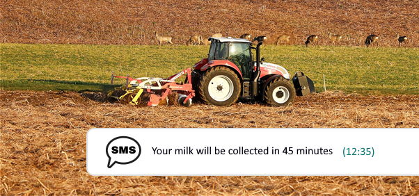 SmartRoutes Agri Delivery SMS Notification