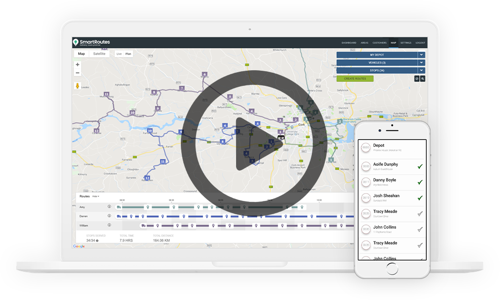 Plan & monitor your delivery routes using SmartRoutes