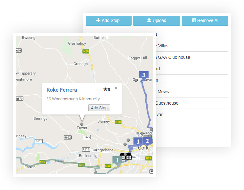 Step 2 - Amend your delivery routes on the fly
